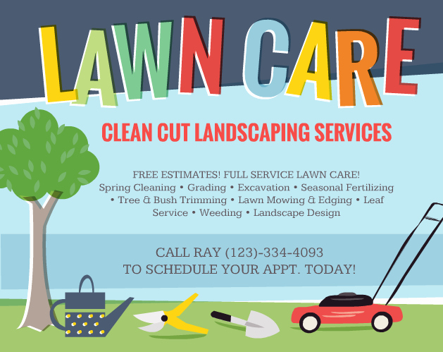 Lawn Care Flyers – Should You Use them the Lawn solutions