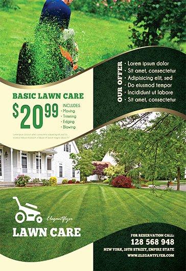 Lawn Care – Free Flyer Psd Template – by Elegantflyer