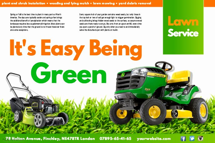 Lawn Care Poster