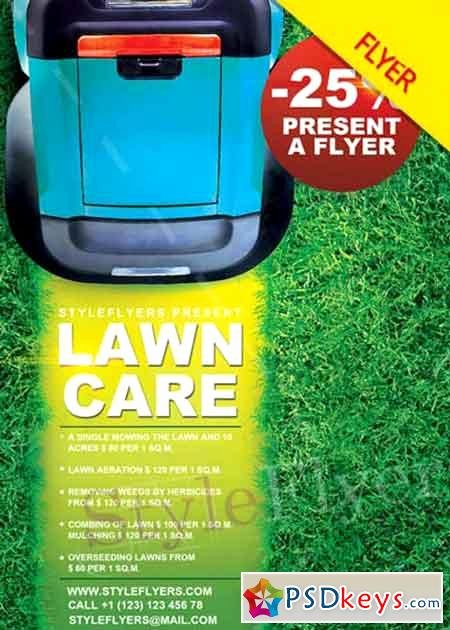Lawn Care Psd V6 Flyer Template Free Download Shop