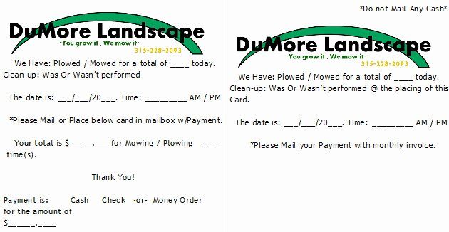 Landscaping Bid Sheet – Latter Example Template