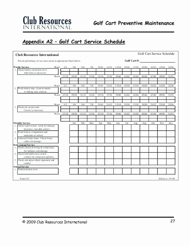 Lawn Maintenance Schedule Template Mower Checklist