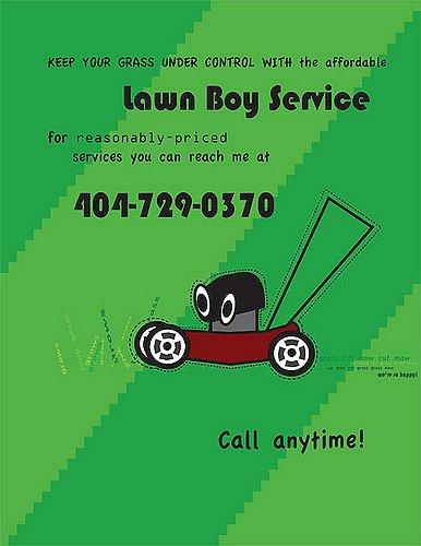 Lawn Mowing Flyer Musicislikeair