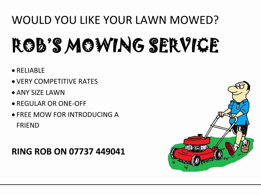 Lawn Mowing Flyer Template Bing Images