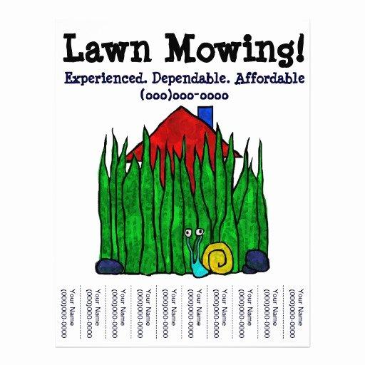 Lawn Mowing Lawn Care Yard Word Custom Flyer