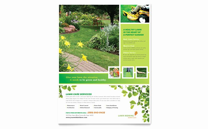 Lawn Mowing Service Flyer Template Design