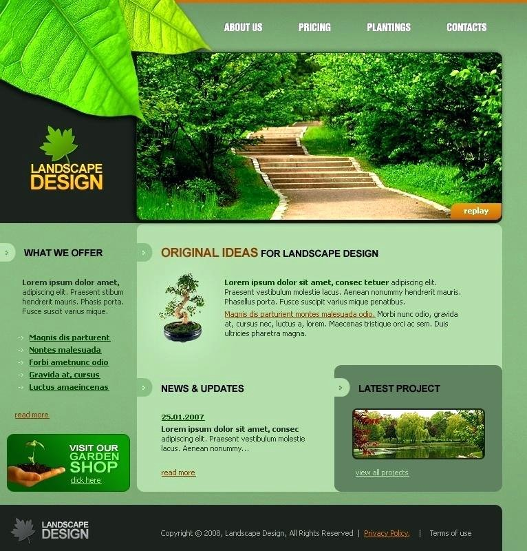 Lawn Mowing Templates Free Lawn Service Website Templates