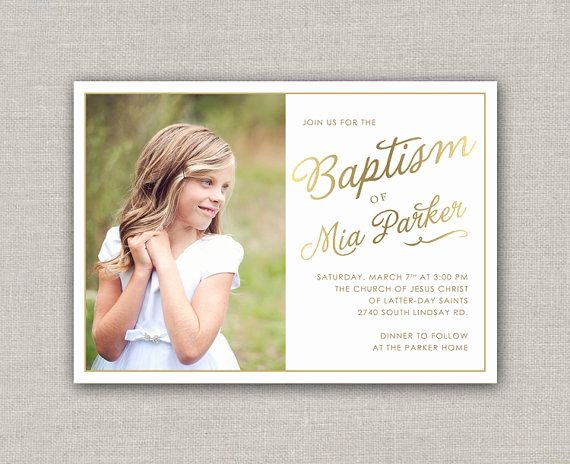 Lds Baptism Invitation Mia