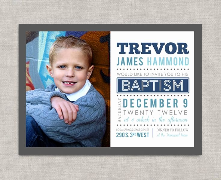 Lds Baptism Invitation Trevor