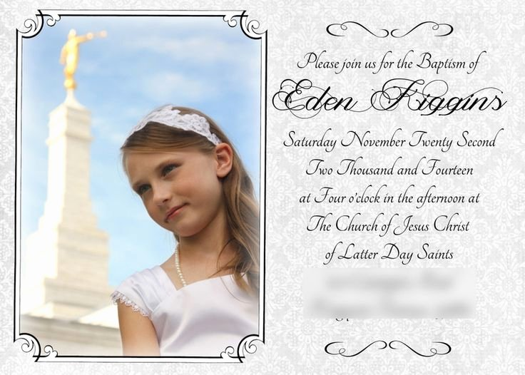 Lds Baptism Invitations Templates Free