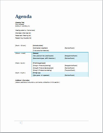 Lds Pack Meeting Agenda