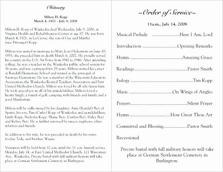 Lds Program Template Program Template 7 Funeral Program