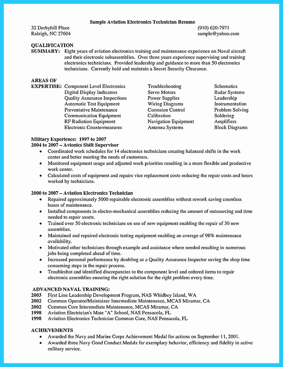 Learning to Write A Great Aviation Resume