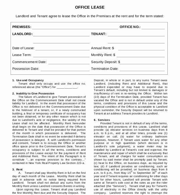 Lease Agreement Template – 15 Free Word Pdf Documents