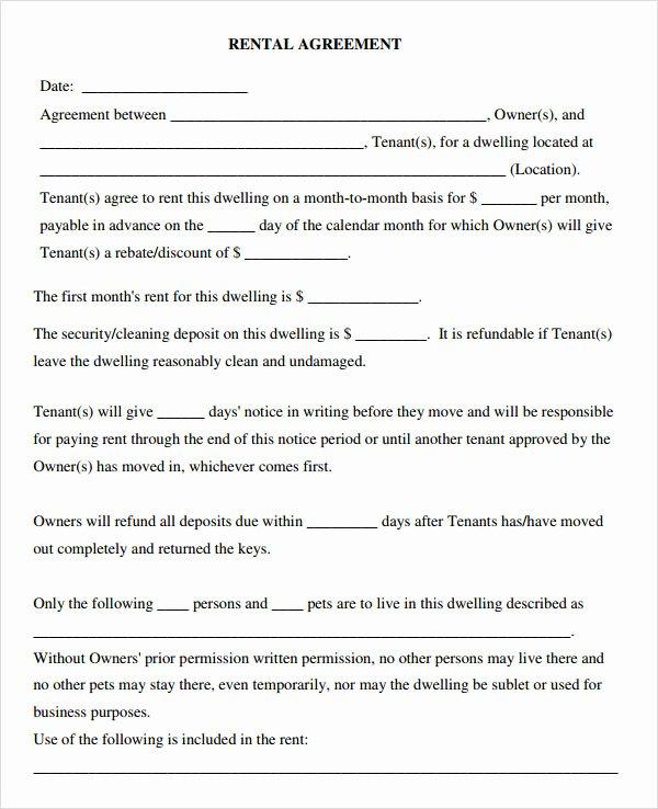 Leasing Agreement 7 Free Pdf Download