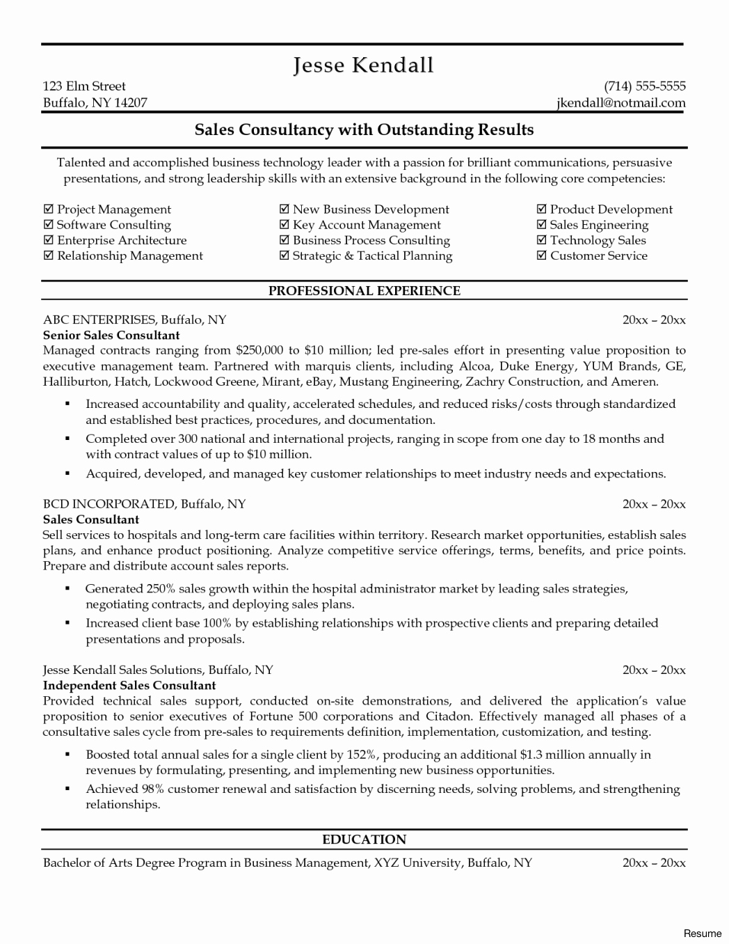 Leasing Consultant Resume Objective