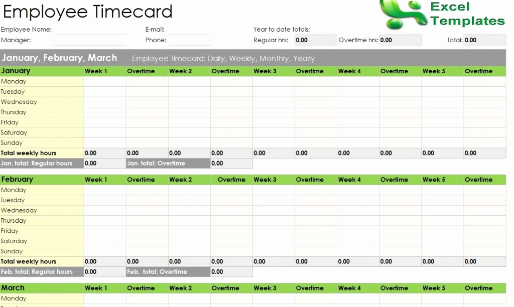 Leave Tracker Excel Template 2016