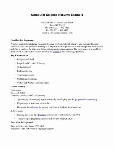 Lecturer Sample Resume for Puter Science Image Search