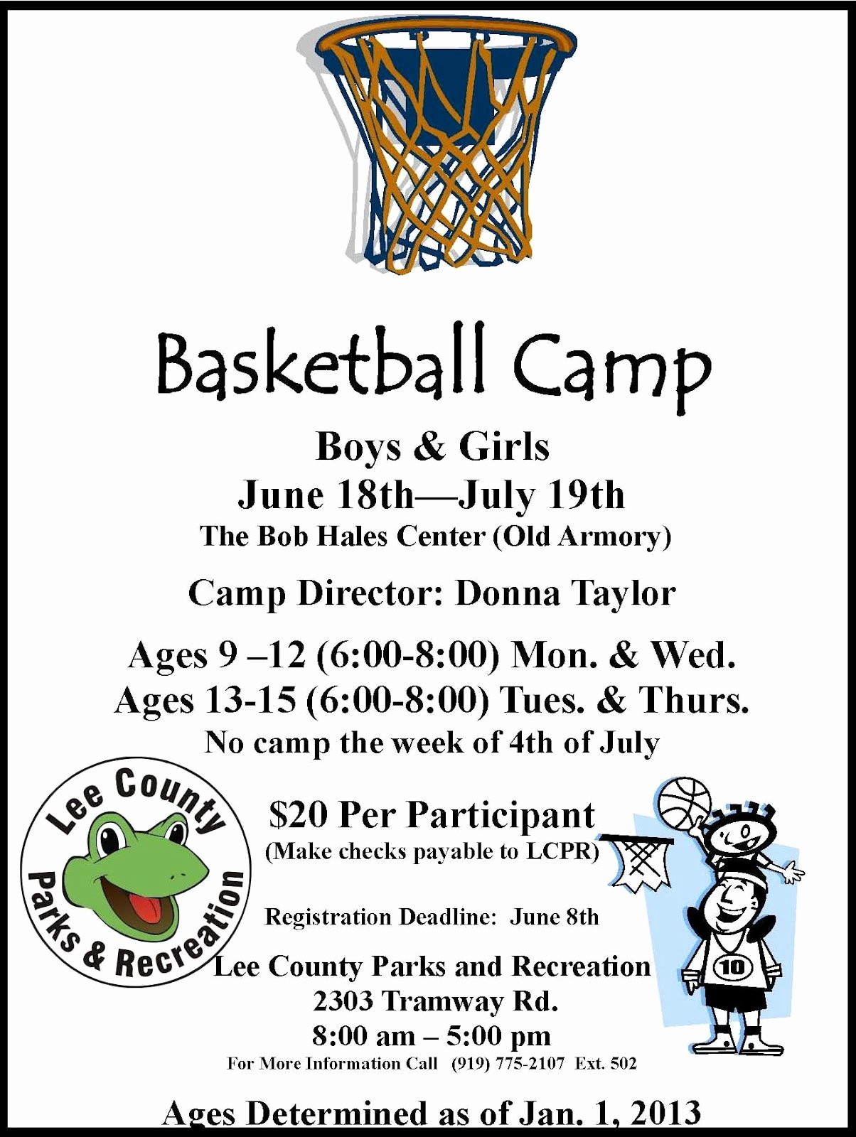 Lee County Government Basketball Camp with Sports
