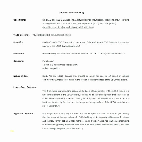 Legal Brief Template