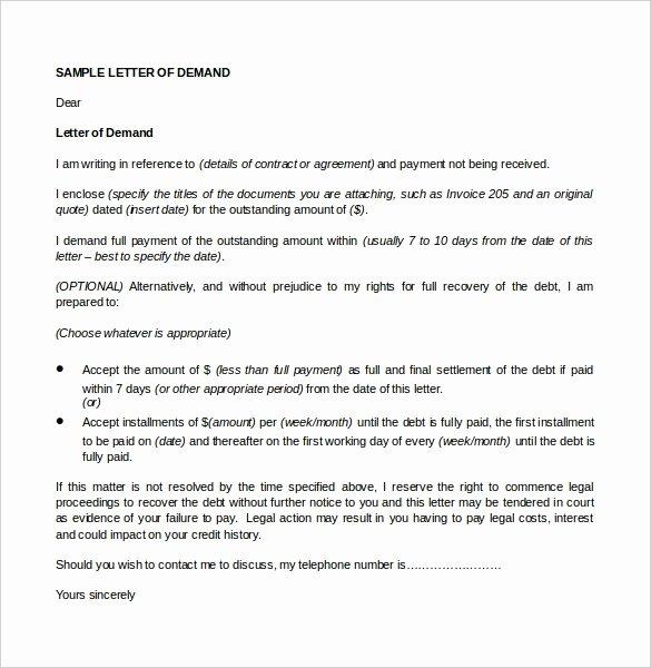 Legal Demand Letter Letter Template