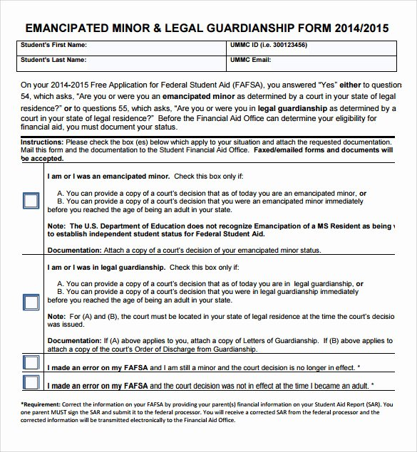 Legal Guardianship form 7 Download Documents In Pdf Word