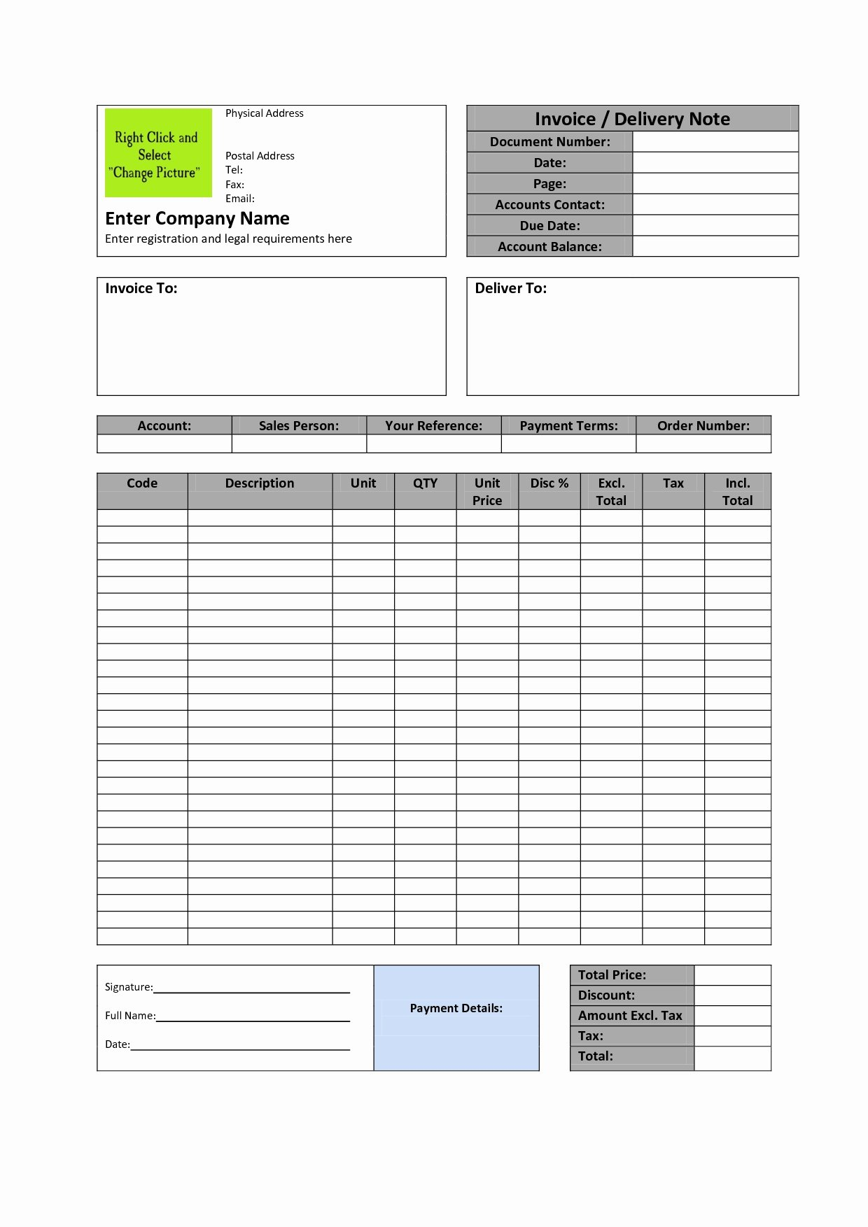 Legal Invoice Template Word Invoice Template Ideas