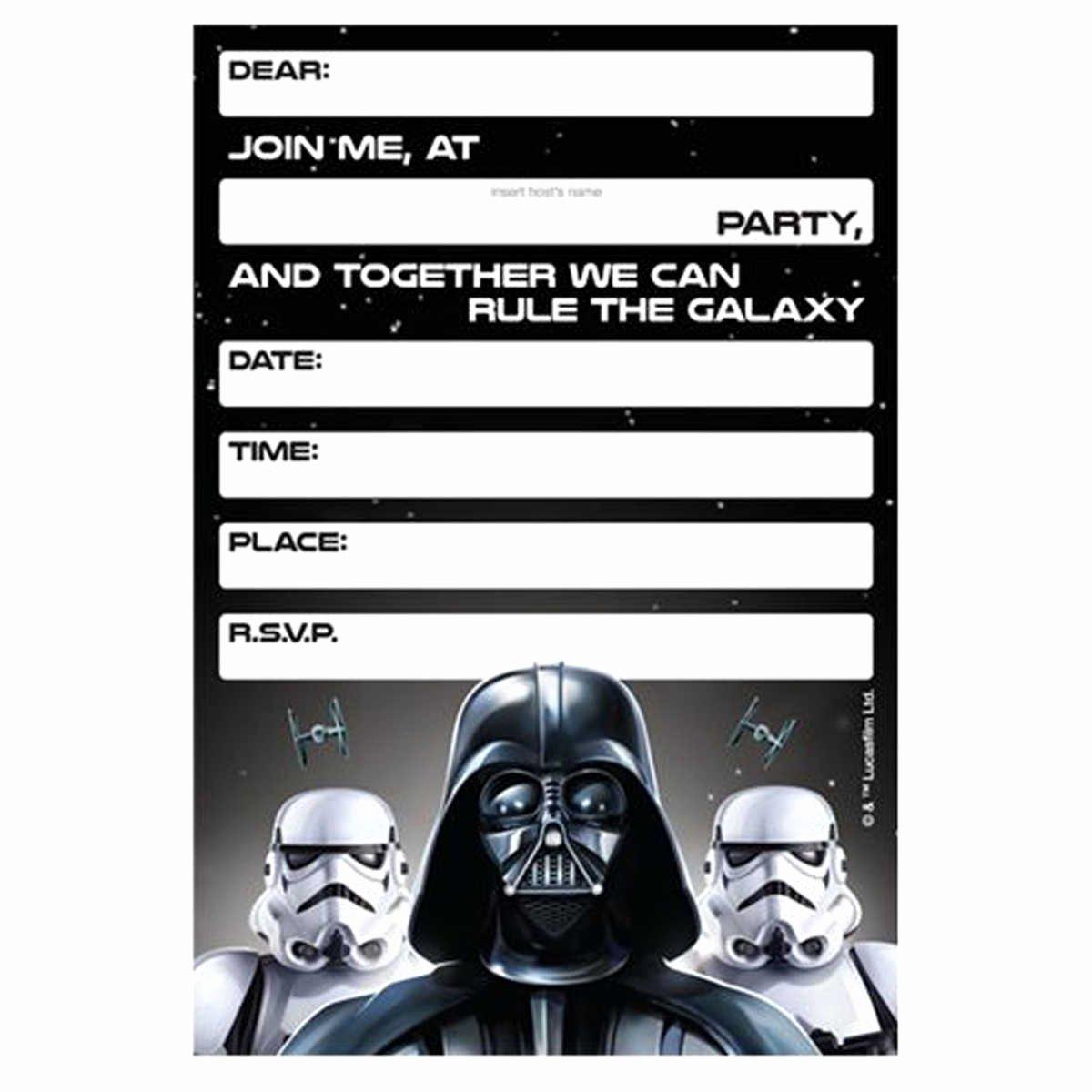 Lego Star Wars Birthday Invitations Template – Bagvania