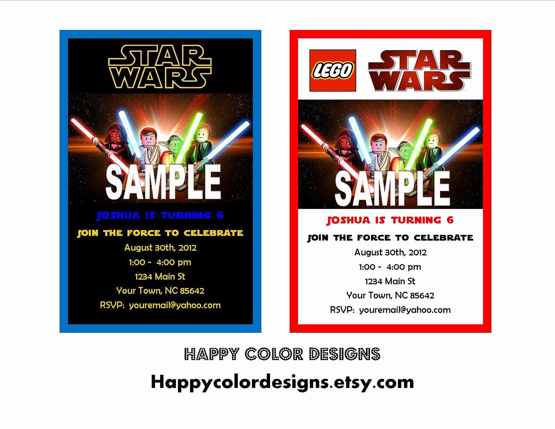 Lego Star Wars Birthday Invitations Template