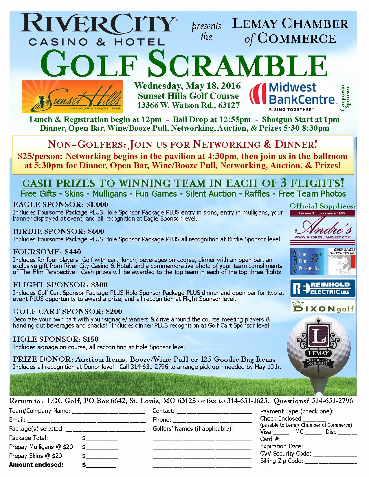 Lemay Chamber Golf Scramble – Lemay Chamber Of Merce