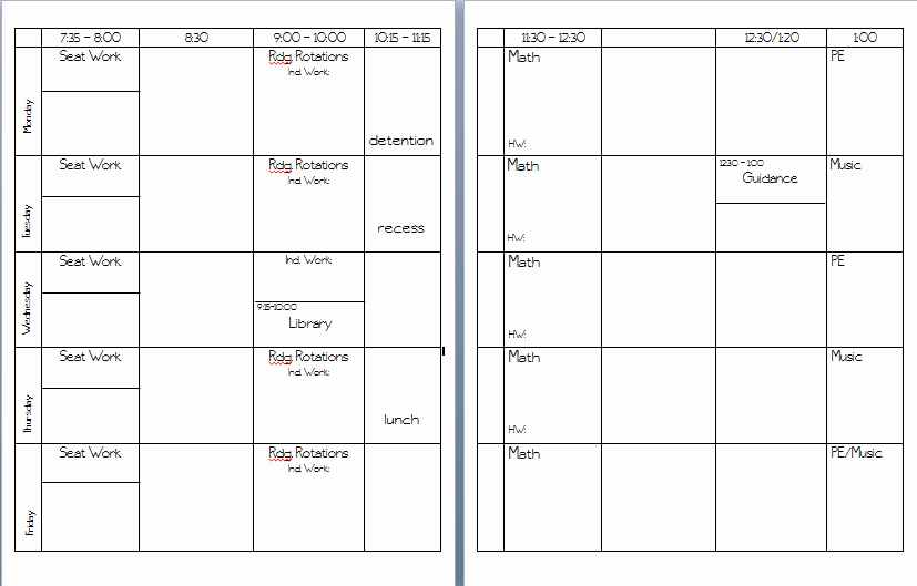Lesson Plan Book Template Templates Collections