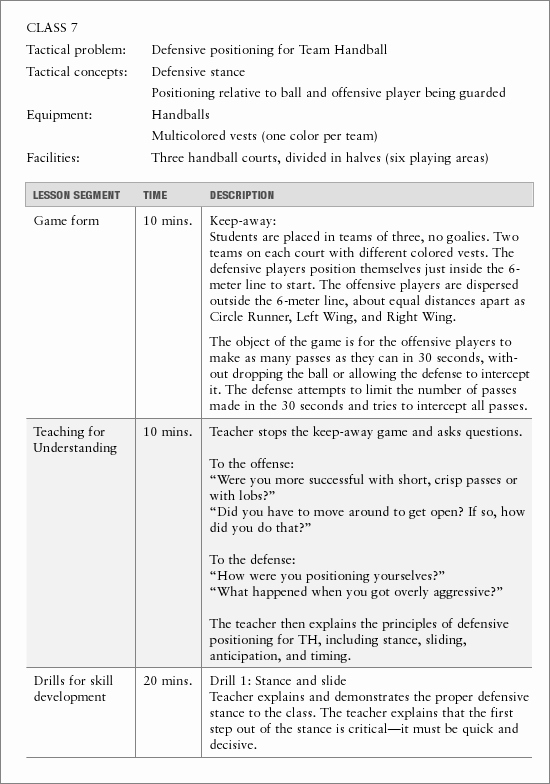 Lesson Plan Examples