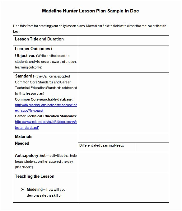 Lesson Plan Template – 43 Free Word Excel Pdf format