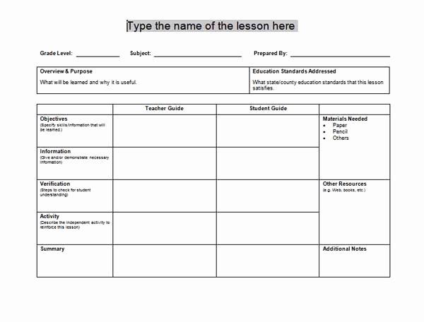 Lesson Plan Templates Microsoft Word Templates