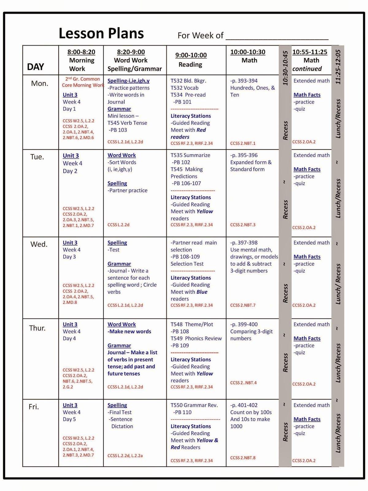 Lesson Planning Idea
