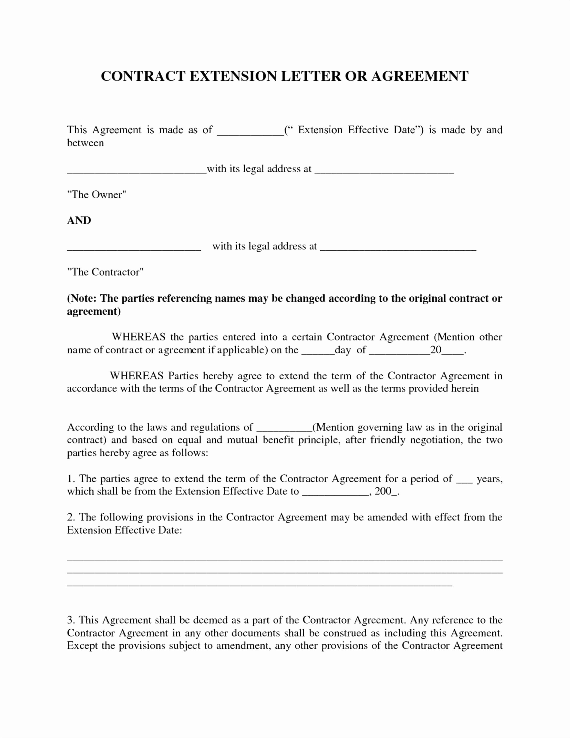 Letter Agreement Template Between Two Parties Examples