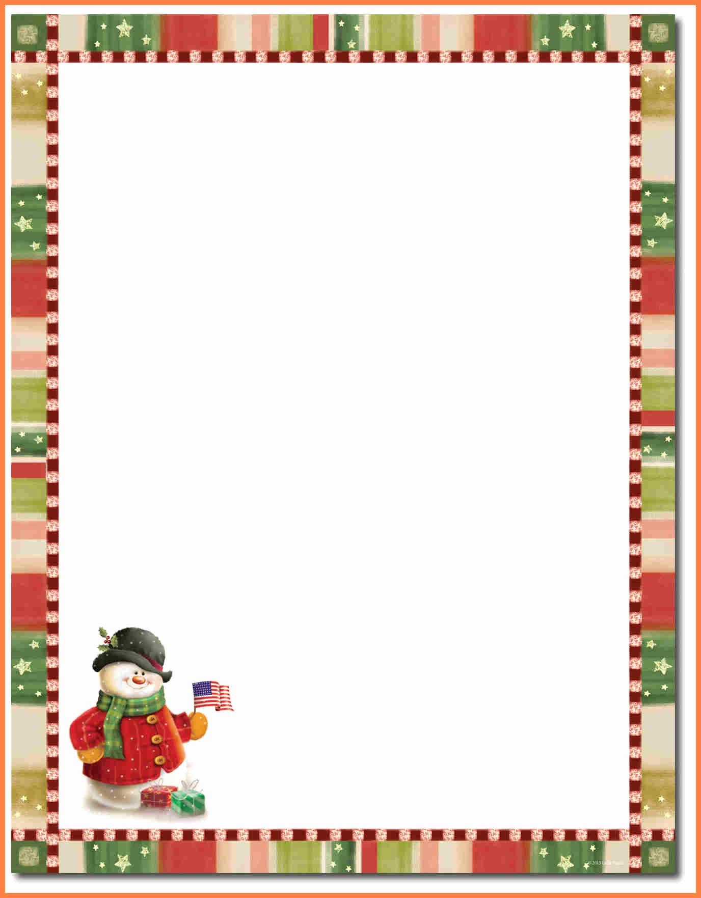 Letter Best Christmas Letterhead Template Christmas