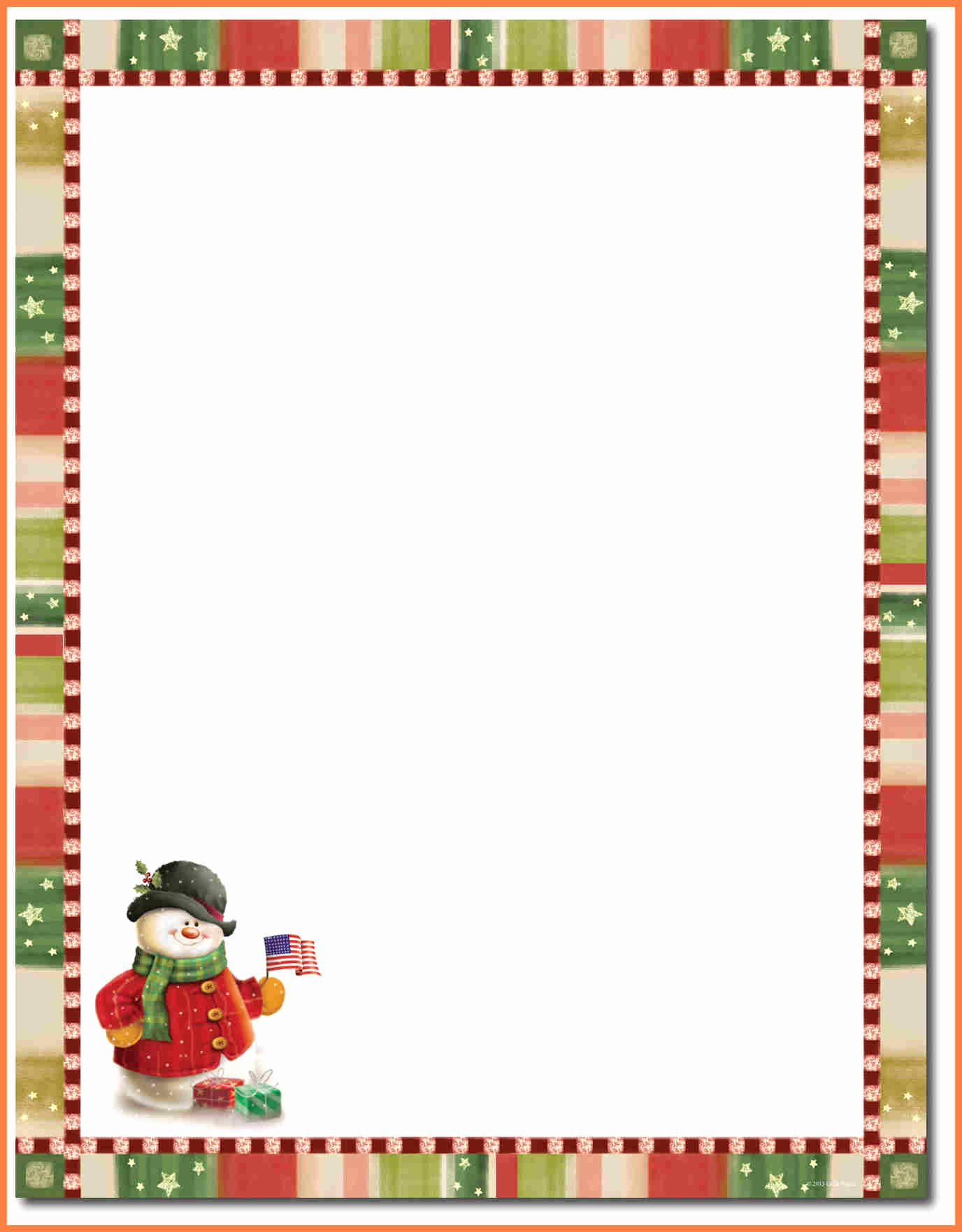 Letter Best Christmas Letterhead Template Christmas