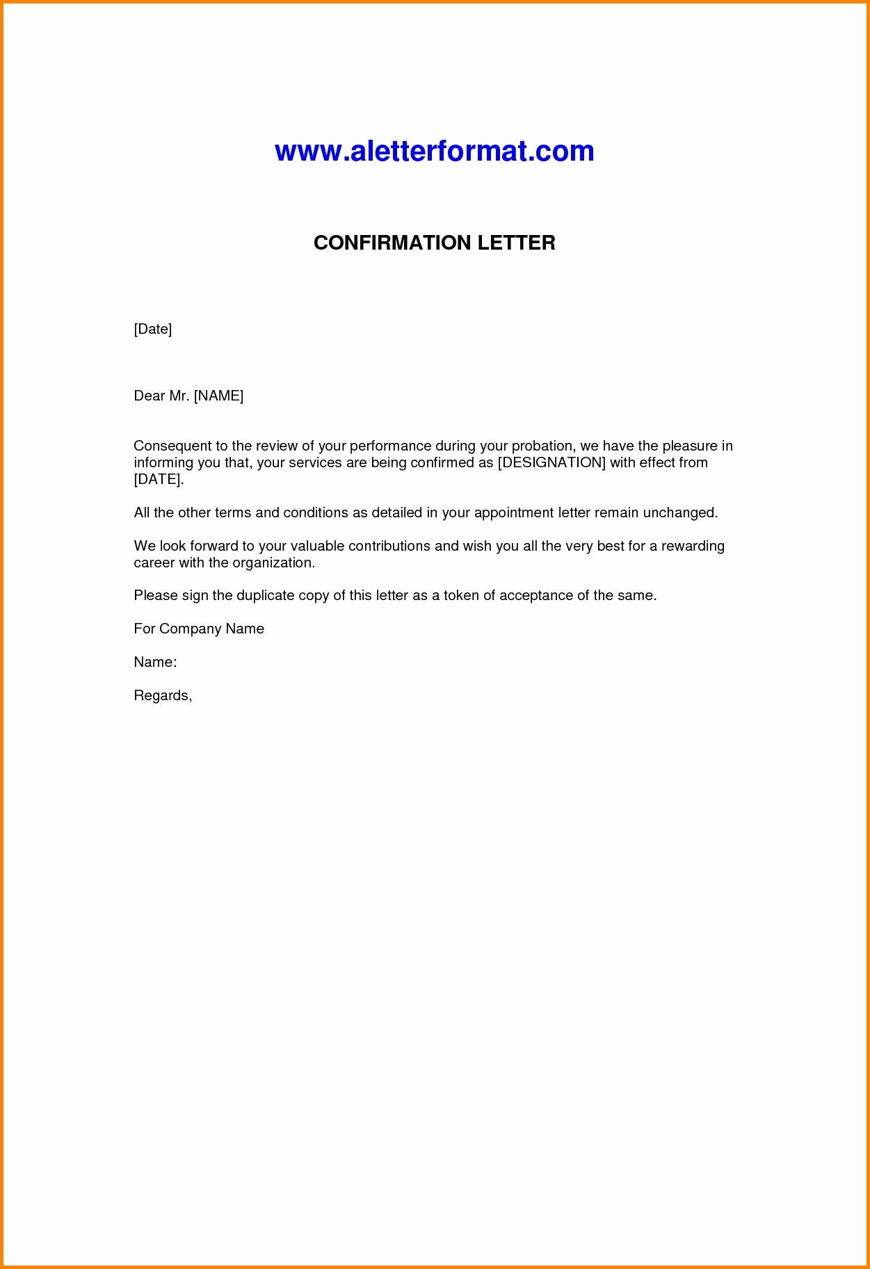 Letter Employment Sample Template