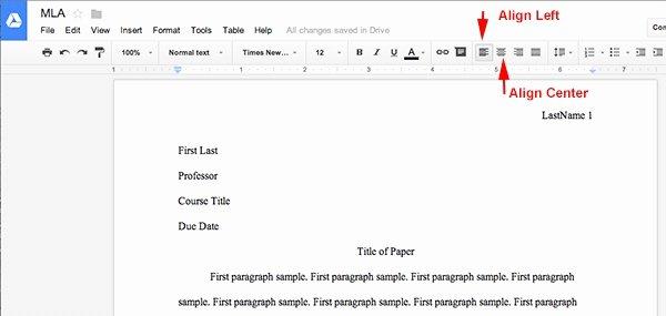 Letter format Google Docs