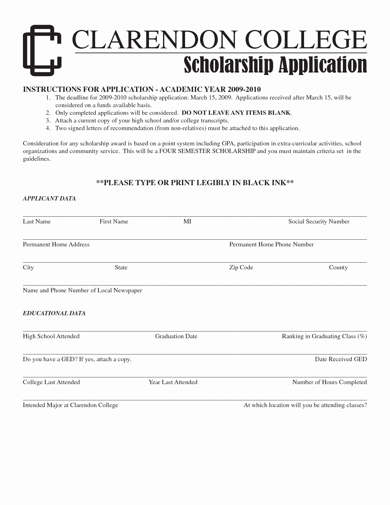 Letter Of Application for A Scholarship Sample & Templates