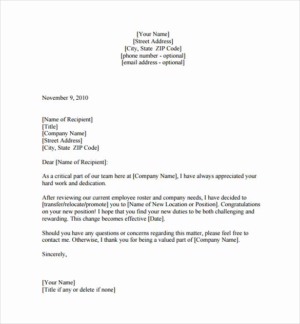 letter of interest for promotion sample