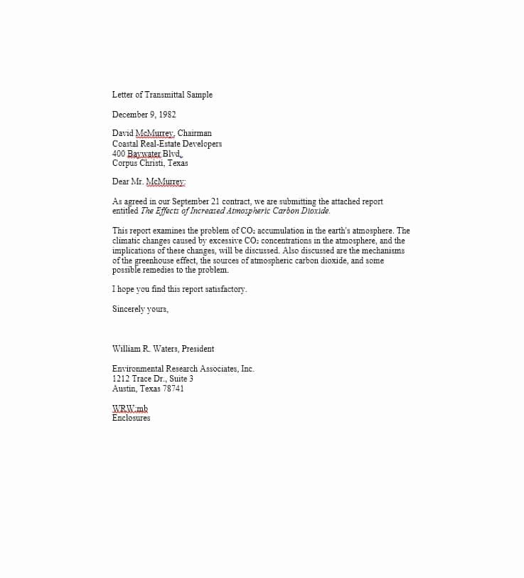Letter Of Transmittal 40 Great Examples & Templates