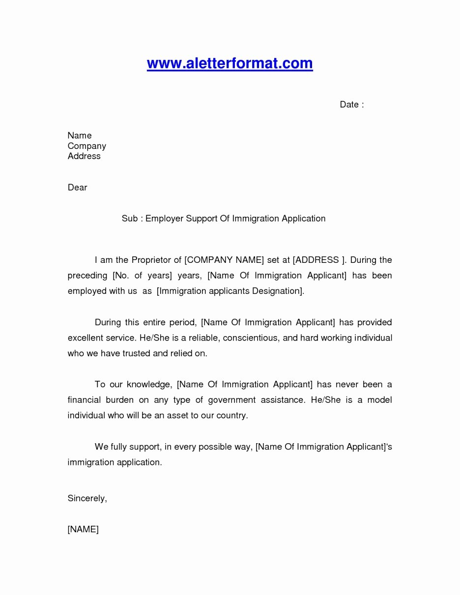 Letter Reference for A Friend Immigration – Letter
