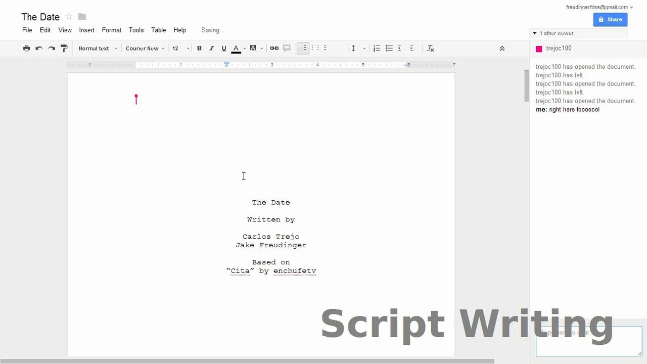 Letter Template Google Docs Script Template Personal