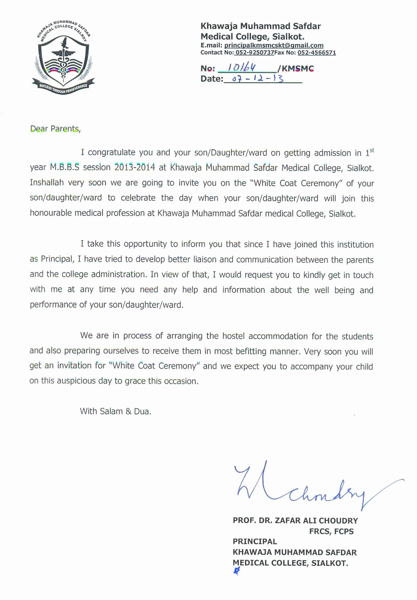 Letter Templates Letter to Parents Letter to Parents