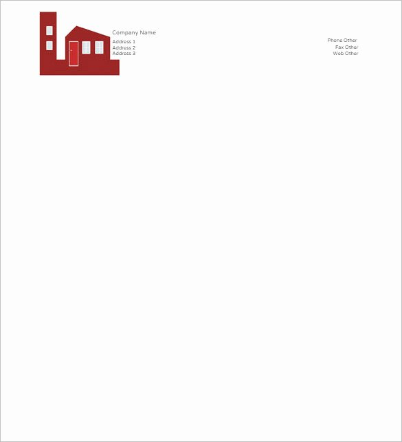 Letterhead format In Word File Free Download Sample