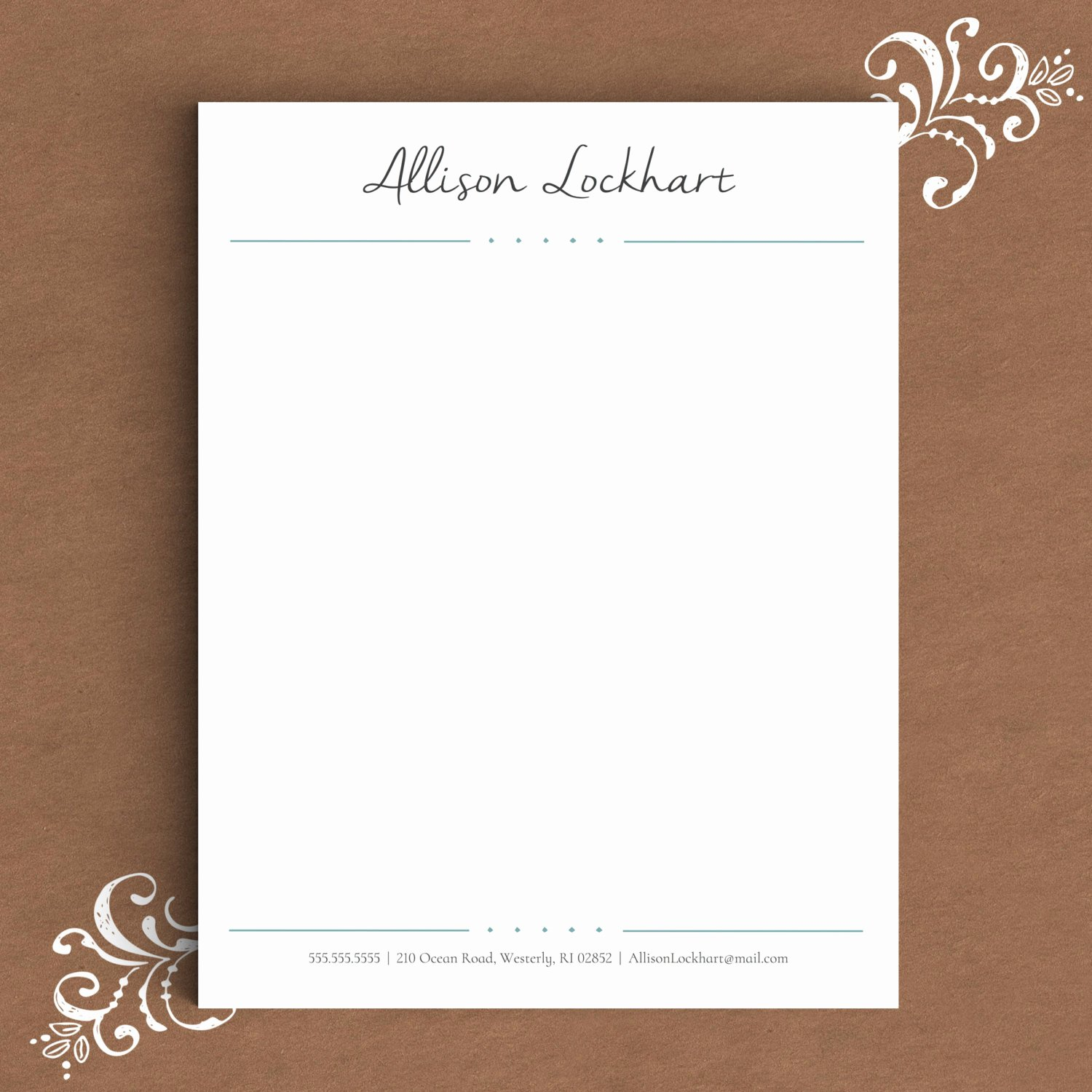 Letterhead Template for Word Diy Custom Letterhead