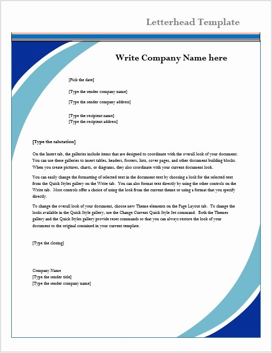 Letterhead Template – Microsoft Word Templates
