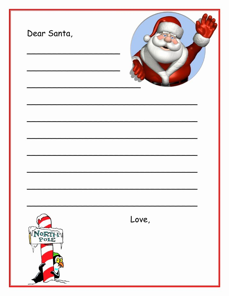 Letters From Santa Templates